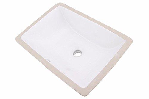 White Rectangular Ceramic Bathroom Under - 18
