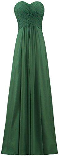 ANTS Evening Green Dresses Bridesmaid Dark Chiffon Long Women's Gowns SqXrwS