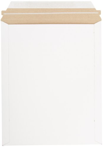 Pratt MJ-4 Self-Seal Stay Flat Mailer, White, 9.75