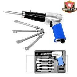 PRO Heavy Duty Zip Gun Hammer w/ 5 Chisels - NEIKO