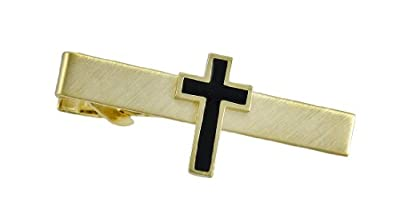 Metal Mens Tie Clips Gold Plated Christian Cross Tie Bar Clip Business Gold