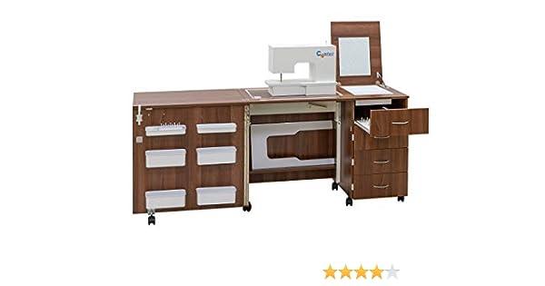 Comfort 2 | Mueble para máquina de coser | (Premium White, L (Air ...