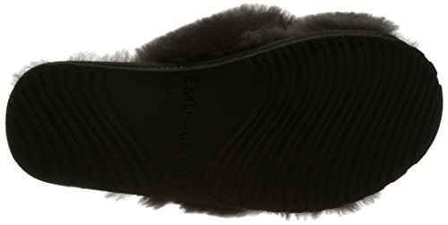 Australia Wine Sheepskin EMU Mayberry Charcoal Red Slipper Womens in Slippers Hwwd8q