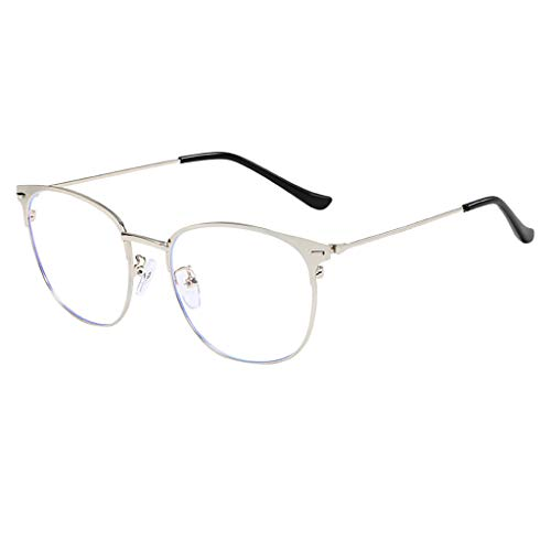 - Bsjmlxg Unisex Glasses, Clear Lens Eyeglasses Frame Anti Round Optical Eyewear, Computer Readers,Comfortable Simple Stylish
