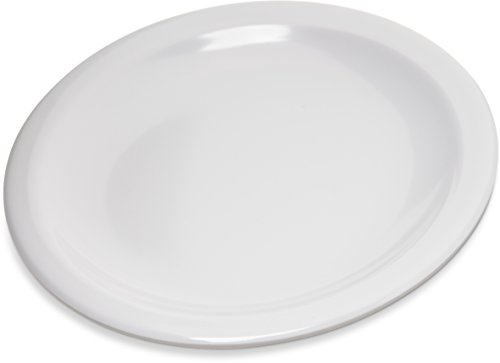 "Carlisle 4350502 Dallas Ware Melamine Bread and Butter Plate, 0.66 x 5.58"", White (Case of 48)"