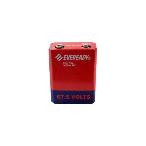 Eveready 467 Carbon Zinc 67.5V Battery NEDA 200 IEC 45F40 by Eveready
