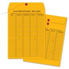 Inter-Dept.Envelopes, Str/Button Close,10''x13'',100/CT,Kraft, Sold as 1 Box, 100 Each per Box by Business Source