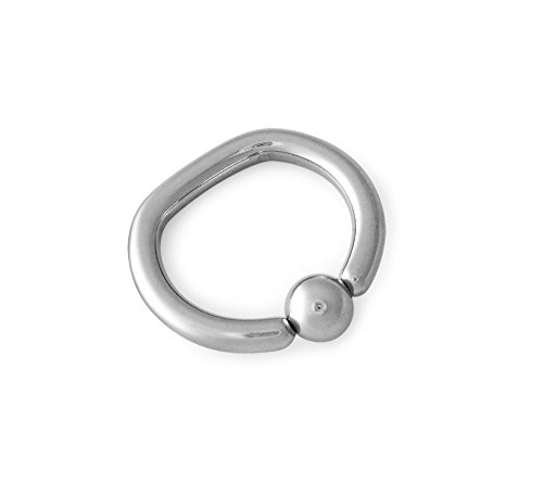 316L Surgical Steel D Ring Captive Bead 10g 3/8 (Ring Bead Three)