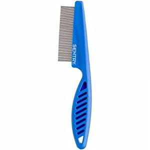 The SENTRY Dog Flea Comb helps to eliminate fleas and flea eggs. It also removes fine debris and dust while combing through your dog's hair. The SENTRY Dog Flea Comb includes an ergonomic handle for a comfortable grip.