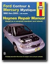 haynes ford contour and mercury mystique 95 00 manual rh amazon com 1996 Mercury Mystique MPG 1996 mercury mystique owner's manual