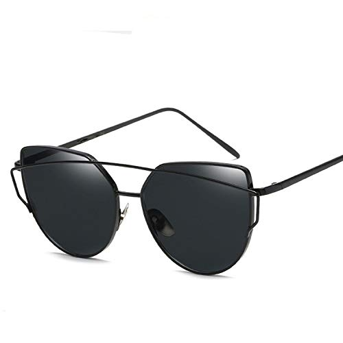 (Sunglasses Women Luxury Cat Eye Brand Design Mirror Rose New Gold Vintage Cateye Sun Glasses Lady Eyewear,C1)