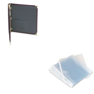 KITSAM15134UNV21125 - Value Kit - Samsill Classic Collection Ring Binder Portfolio (SAM15134) and Universal Top-Load Poly Sheet Protectors (UNV21125)