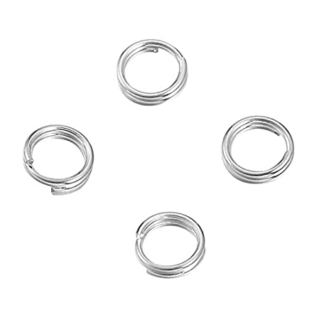 VALYRIA Sterling Silver Split Jump Ring Connector Charm Jewelry Findings, 10pcs 7.0mmx0.7mm VALYRIAWBB93046
