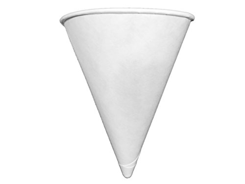 Price comparison product image Genpak Harvest 4.5 oz Compostable Paper Cone Water Cup - Recyclable,  Rolled Rim 800ct. W42F {Vasos de Agua con Forma de Cono} (4-Boxes (800ct.))