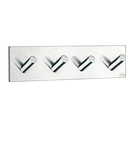 (Beslagsboden Quadruple Wall Mounted Hook Finish: Brushed Stainless Steel)