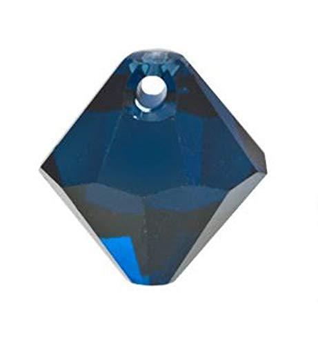 World's Natural Treasures - Swarovski Crystal Bicone Pendants 6301/6328-8mm- Dark Indigo - Huge Selection of Beading Accessories