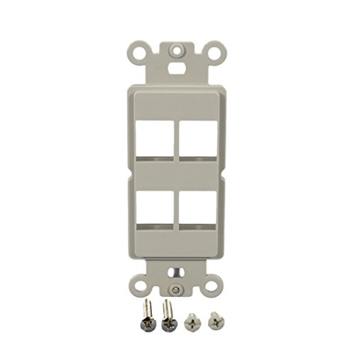 Cooper Wiring Devices 5524-5EGY Strap 4 Port Modular Decorator - Modular Wall Cooper Plate
