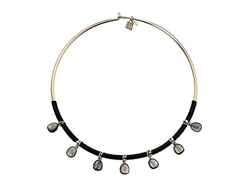 Robert Lee Morris Soho Stone Round Wire Collar Necklace, Black, One Size
