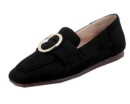 Tacco Ballet Basso di Pelle Punta Mucca FBUIDD008332 Nero Flats Donna Quedrata AllhqFashion nqxHaO6x