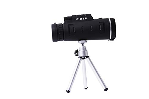 Monocular Telescope by Vider 12×52 High Power Prism Scope for Travel Camping Hunting Bird Scope which Includes Phone Mount and Phone Tripod for All Smart Phones- Smart Choice telescopes for Adults