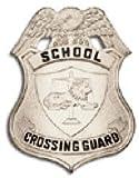 HWC Nickel Silver School Crossing Guard Traffic Agent Badge Shield 3 x 2-1/4 Metal High Quality by HWC