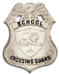 HWC Nickel Silver School Crossing Guard Traffic Agent Badge Shield 3 x 2-1/4 Metal High Quality by HWC