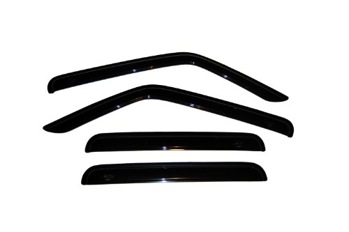 Auto Ventshade 94359 Original Ventvisor Side Window Deflector Dark Smoke, 4-Piece Set for 2007-2018 Jeep Patriot