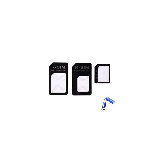 Bluecell Set of 3 Cellphone SIM Card adapter/converter (Nano Micro/Nano Regular/Micro Regular) for Apple iPhone/Android phone user