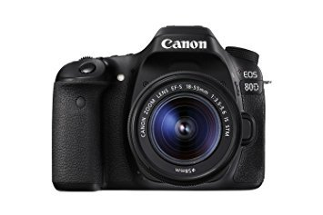 Canon 1263C005-IV EOS 80D Digital SLR Kit with EF-S 18-55mm f/3.5-5.6 Image Stabilization STM Lens (Black) (International Model) No -