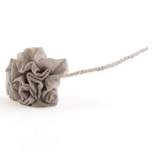 Weddingstar LRG Putty Grey Flower W/STEM (1)