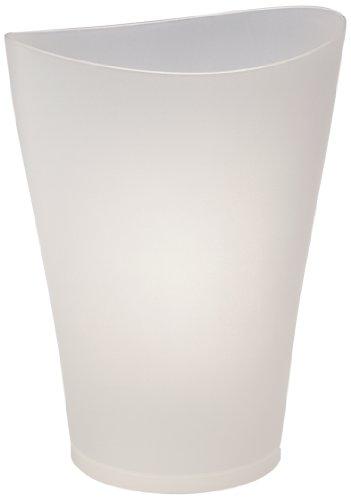 Rubbermaid FG290200CLR Spa Works Vanity Wastebasket, 9-Quart, Clear