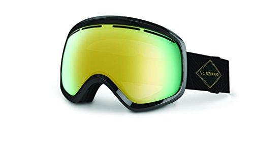VonZipper - Dba Skylab Ski Goggles, Black Gloss/Gold Chrome/Bonus ()