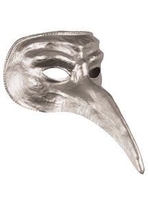 Disguise Costumes Silver Venetian Mask,