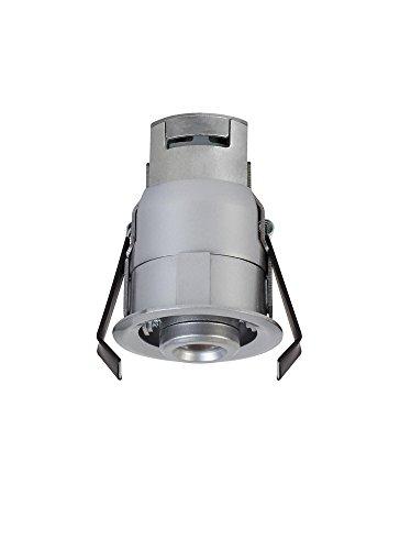 "Ambiance Lighting Systems 95417S-849 Niche - 3.5"" 12V 4.2W 3000K 1 LED Gimbal Light, Satin Nickel Finish"