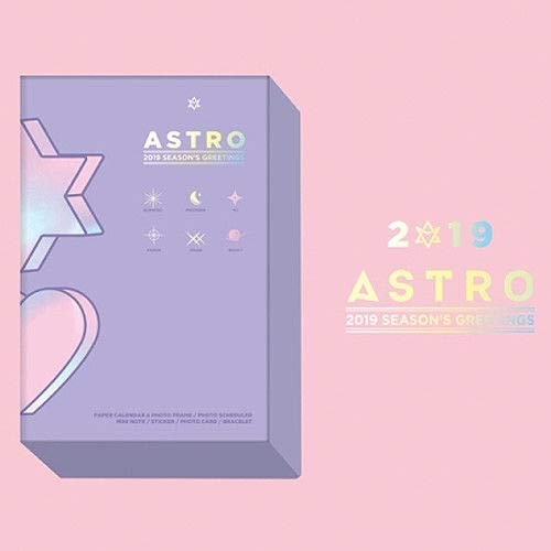 Price comparison product image ASTRO 2019 SEASON'S GREETING SUNNY DAY Calendar+Note+Sticker+Card+Bracelet+etc+Tracking Number K-POP SEALED