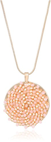 Kenneth Cole New York Womens Blush Woven Pendant Necklace, One Size