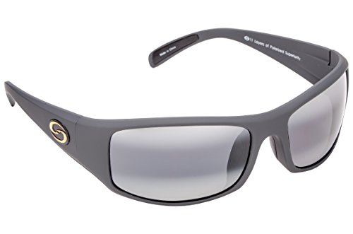 Strike King S11 Optics Okeechobee Polarized Sunglasses with Rubberized Matte Gray Frames and - Of Sunglasses Images