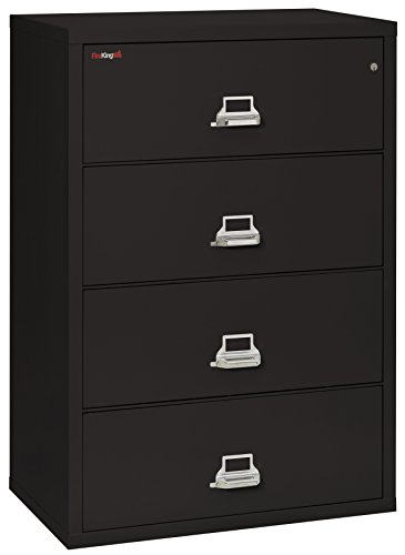 FireKing Fireproof Lateral File Cabinet (4 Drawers, Impact Resistant, Waterproof), 44