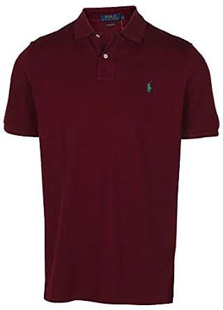 Polo Ralph Lauren Men's Classic Fit Mesh Pony Shirt-Red