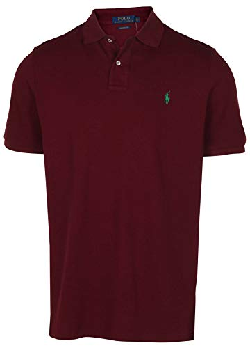 Polo Ralph Lauren Men's Classic Fit Mesh Pony Shirt-Red Wine-Large