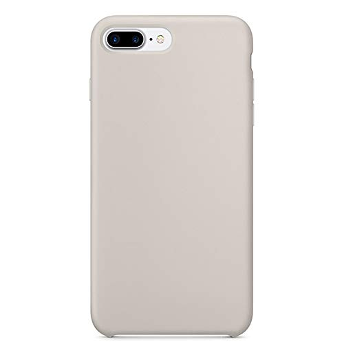 iPhone 8 Plus(5.5 inch) Zero Point Liquid Silicone case, Lined with Ultra-Fiber Flocking to Protect The Back of The Phone wear, Shock and Shock All-Round Protection of Mobile Phones (Stone) (Iphone 5 Stone Case)