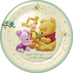 Pooh Baby Days Lunch Plates 8ct