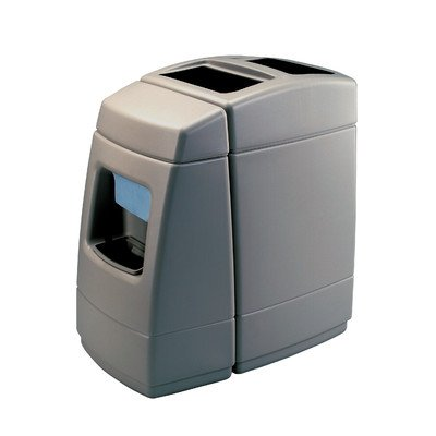Waste Windshield - 55 Gallon Single Sided Waste / Windshield Center Color: Charcoal