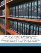 Download Pareri Dell'episcopato Cattolico, Di Capitoli ... Etc., Sulla Definizione Dogmatica Dell'immaculato Concepimento Della B. V. Maria, Rassegnati Alla Sa (Italian Edition) pdf epub