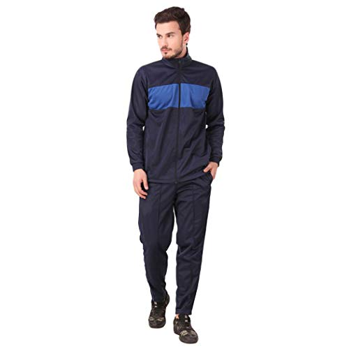 31BSmabW5fL. SS500  - Fashion7 Men's Polyester Tracksuit - Tracksuit for Men Sports (Blue)