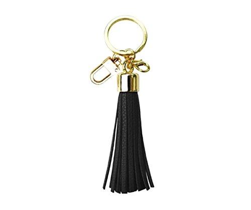 Womenss Leather Tassel Charm Women Handbag Wallet Accessories Key Rings