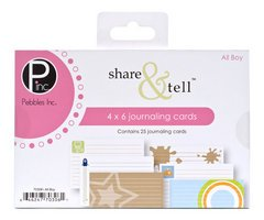 Share Tell Journaling Cards (Pebbles Inc. Share & Tell Journaling Cards 25/Package, All Boy)