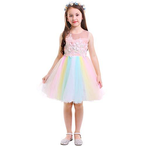 Sweetheart Princess Child Costumes - Girls Kids Flower Unicorn Birthday Outfits