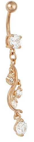 Gold Dangling Belly Ring - 5