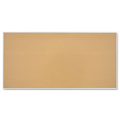 (Quartet Cork Bulletin Board, 96 x 48 Inches, Aluminum Frame (S738))